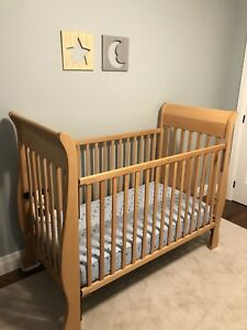 Solid Maple Baby Crib