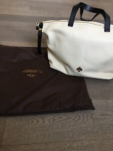 kate spade cream leather tech tote