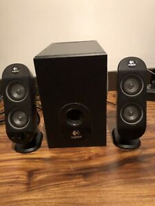 Logitech computer speakers.
