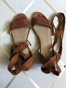 Stuart Weitzman Tan Korba Wrap Sandals