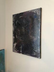 Galaxy Abstract Acrylic Painting