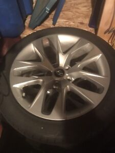"""18"""" winter tires on rims 5x114.3 off 2016 genesis coupe"""
