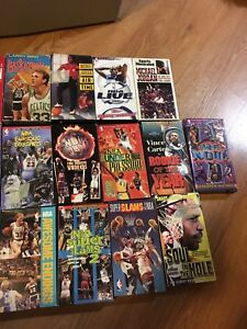 Free assorted NBA basketball VHS tapes