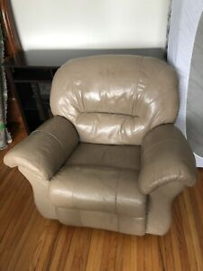 Leather Sofa and Leather Recliners