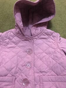 Baby gap girls hooded quilted light jacket