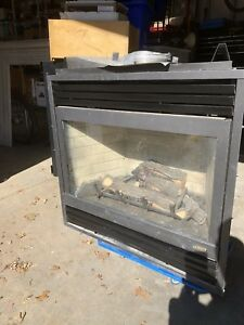 Natural gas fireplace insert