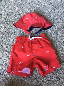 Boys swimsuit and matching hat