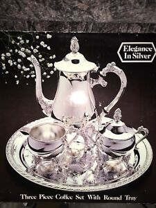 Brand New Elegance in Silver Coffee Set