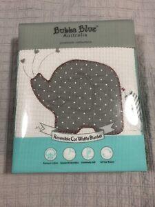 Reversible crib waffle blanket (new)