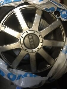 """Audi rims and tires 17"""" only used for summer"""