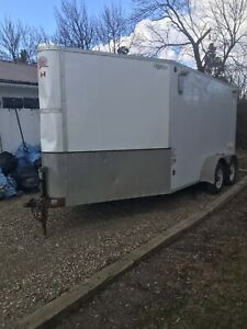 2014 CJ enclosed trailer 17'