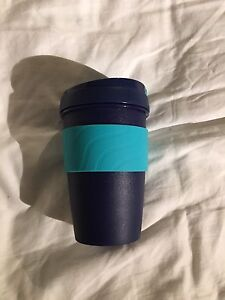 Plastic reusable coffee cup with sealable lid New Farm Brisbane North East Preview