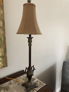 Pair of table tall lamps