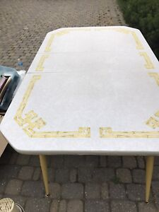 Retro vintage kitchen table with extension