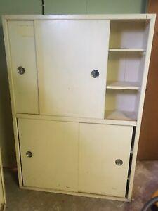Shelf Units with Sliding Doors