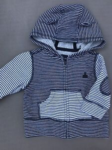 Baby Gap toddler boy hoodie with bear ears. Size 3-6 months.