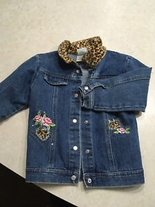 Girls 4t jean jacket with embroidery