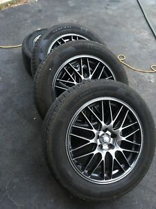 "Enkei 17"" Wheels with 225/55R17 General Tires Subaru"