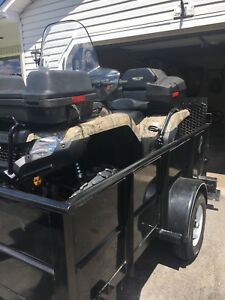 2014 honda 420 mint shape low kms with 4x8 trailer