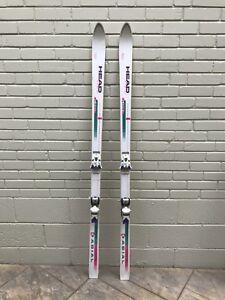 Vintage White Downhill Skis