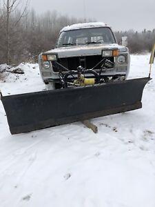 1974 Chevy Custom 20 Suburban with Meyer Snow Plow