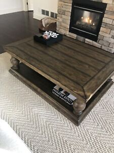 Pottery barn wood coffee table