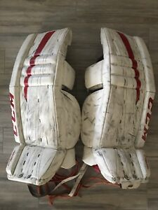 30+1 Goalie pads, blocker and trapper