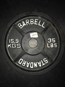 45 and 35 Olympic steel plates