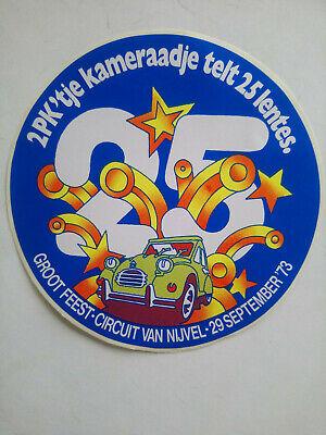 CITROËN 2 ch 2pk large sticker autocollant 70's Vinyl circuit Nijvel 1973