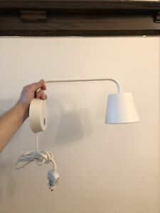 Pair of IKEA swing arm wall sconces
