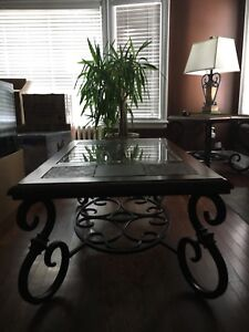 BEAUTIFUL SOLID OAK COFFEE TABLE, 2 END TABLES, SOFA/HALL TABLE