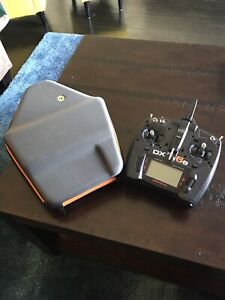 Spektrum DX6e with case blade torrent two battery's and props