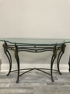 Couch Table, Console, glass table