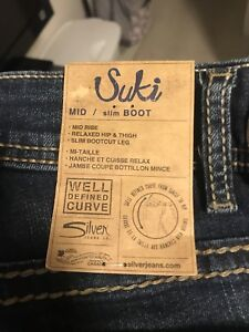 New with tags plus size 24 length 31 silver jeans