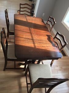 Duncan Phyfe two pedestal dinning table