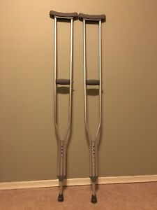Gently used crutches