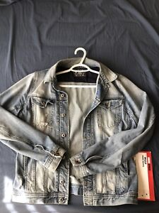 Diesel Light Washed Ripped Denim Jacket Size X-Large