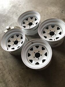 White Vision DEEP DISH Steelies 0 offset / 15x8