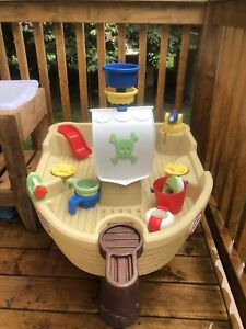 Pirate ship water table