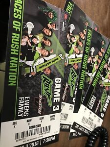 4 Saskatchewan Rush tickets Feb 3rd