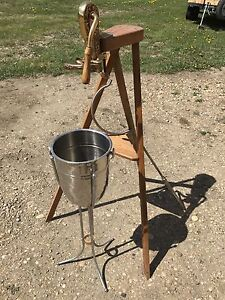 Antique Corkscrew and Wine bucket