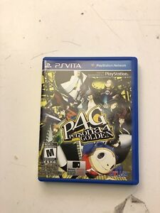 PS VITA Persona 4 Golden Jeux vidéo à vendre/video game for sell