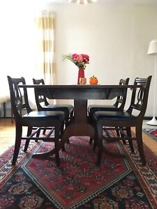 Antique / vintage dining table and chairs