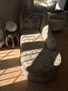 Chaise lounger, ivory
