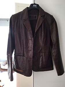Brown Leather Car Coat