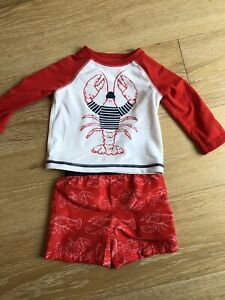 Swimming shorts and shirt 6-12 months