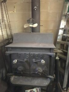 Fischer woodstove and piping