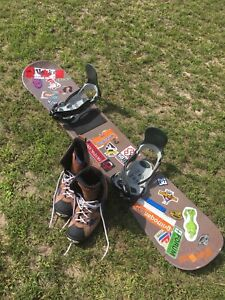 Oxygen Snowboard with bindings and boots