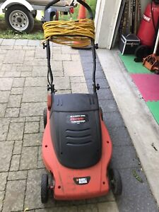 Black & Decker Electric Mower LawnHog with extension cord