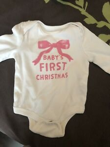Baby's first Christmas diaper shirt